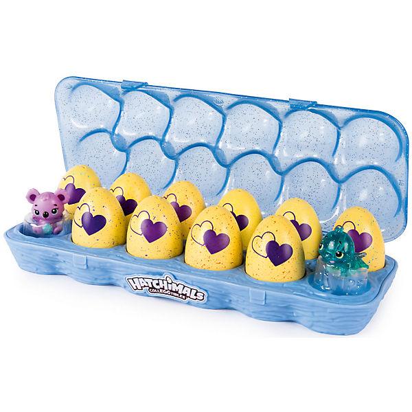Коллекционные фигурки Spin Master Hatchimals в голубой коробке, 12 штук