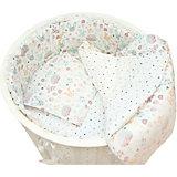 """Комплект постельного белья для круглой кроватки Baby Nice """"Лесная поляна"""" бежевый"""