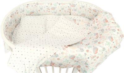 """Борт для овальной кроватки Baby Nice """"Лесная поляна"""" бежевый"""