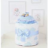 """Подарочный набор для новорожденного Baby Nice """"Облака"""" голубой"""