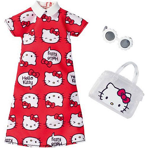 """Одежда для куклы Barbie """"Универсальный наряд коллаборации"""" Красное платье Hello Kitty от Mattel"""