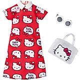 """Одежда для куклы Barbie """"Универсальный наряд коллаборации"""" Красное платье Hello Kitty"""