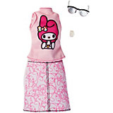 """Одежда для куклы Barbie """"Универсальный наряд коллаборации"""" Блузка и юбка Hello Kitty"""