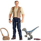 """Игровой набор Jurassic World """"Базовые фигурки"""" Оуэн с малышом"""