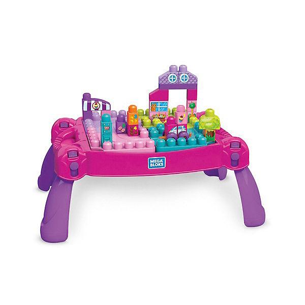 Стол для конструирования  MEGA BLOKS «Мой первый конструктор», розовый