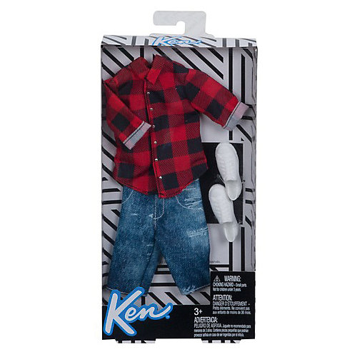 """Одежда для куклы Barbie """"Наряд для Кена"""" Красная клетка от Mattel"""