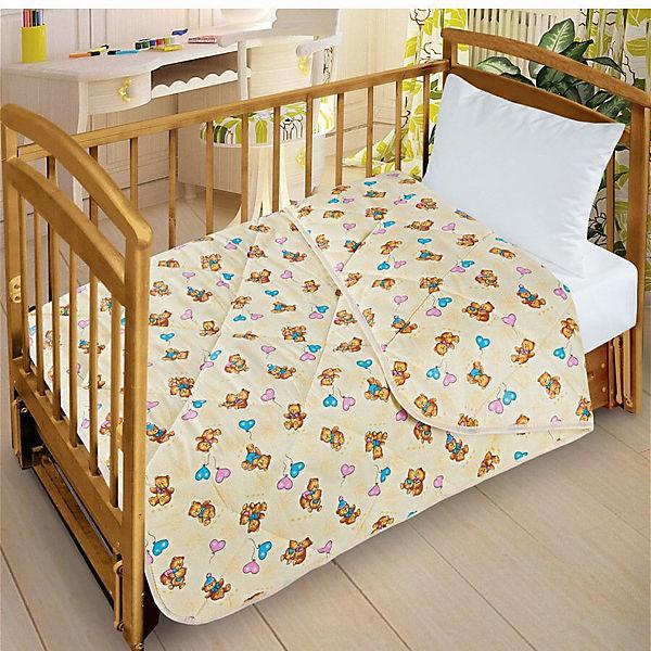 Одеяло-покрывало Letto для детской кроватки SP25, ширина 110см. Облегченное, стеганое. 100% хлопок