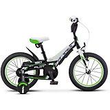 Велосипед Stels Pilot-180 16 дюймов, черно-зеленый