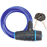 Трос-замок Stels с ключом, черно-синий