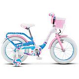 """Велосипед Stels """"Pilot-190"""" 16 дюймов, бело-голубой"""