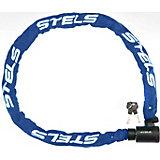 Цепь-замок в тканевой оплетке Stels с ключом, синий