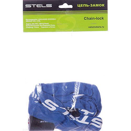 Цепь-замок в тканевой оплетке Stels с ключом, синий от Stels