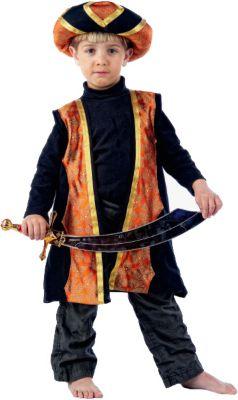 Kostüm Der Kleine Muck orange/schwarz Gr. 86 Jungen Kleinkinder