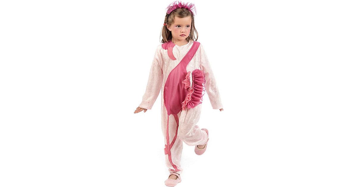 Kostüm Flamingo rosa/weiß Gr. 116/128 Mädchen Kinder