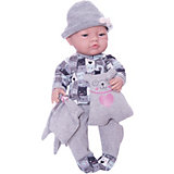 Кукла Paola Reina Бэби, одеяльце и подушка-медвежонок, 45 см