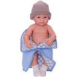 Кукла Paola Reina Бэби, рюкзак и одеяльце, голубой, 32 см