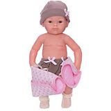 Кукла Paola Reina Бэби, рюкзак и одеяльце, розовый, 32 см
