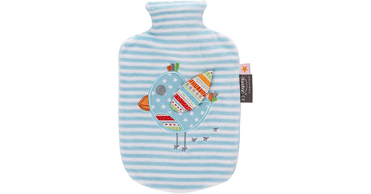 Fashy · Wärmeflasche, Vogel, blau/weiß