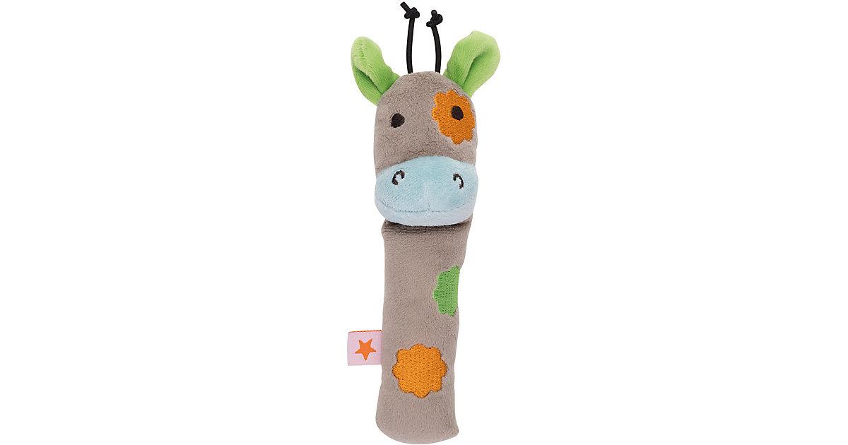 Fashy · Greifling mit Rassel, Giraffe, braun