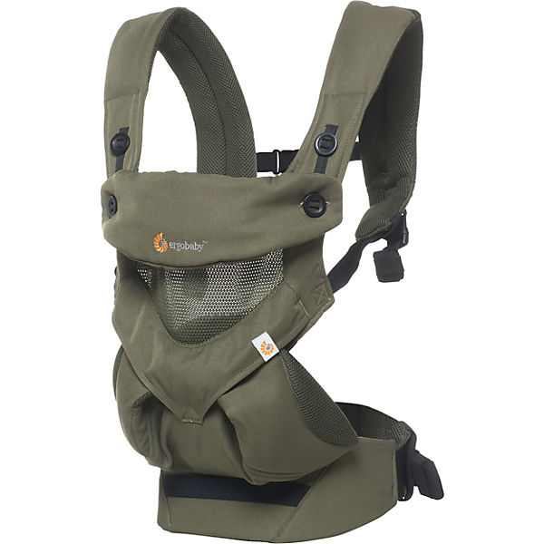 Babytrage 360°, Cool Air Mesh, Khaki Green