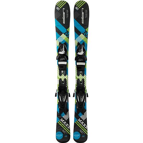 Горные лыжи с креплениями Elan Maxx, 90 см - синий