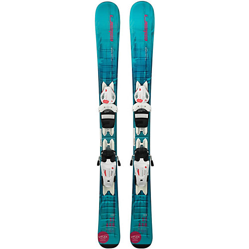 Горные лыжи с креплениями Elan Starr, 80 см - разноцветный