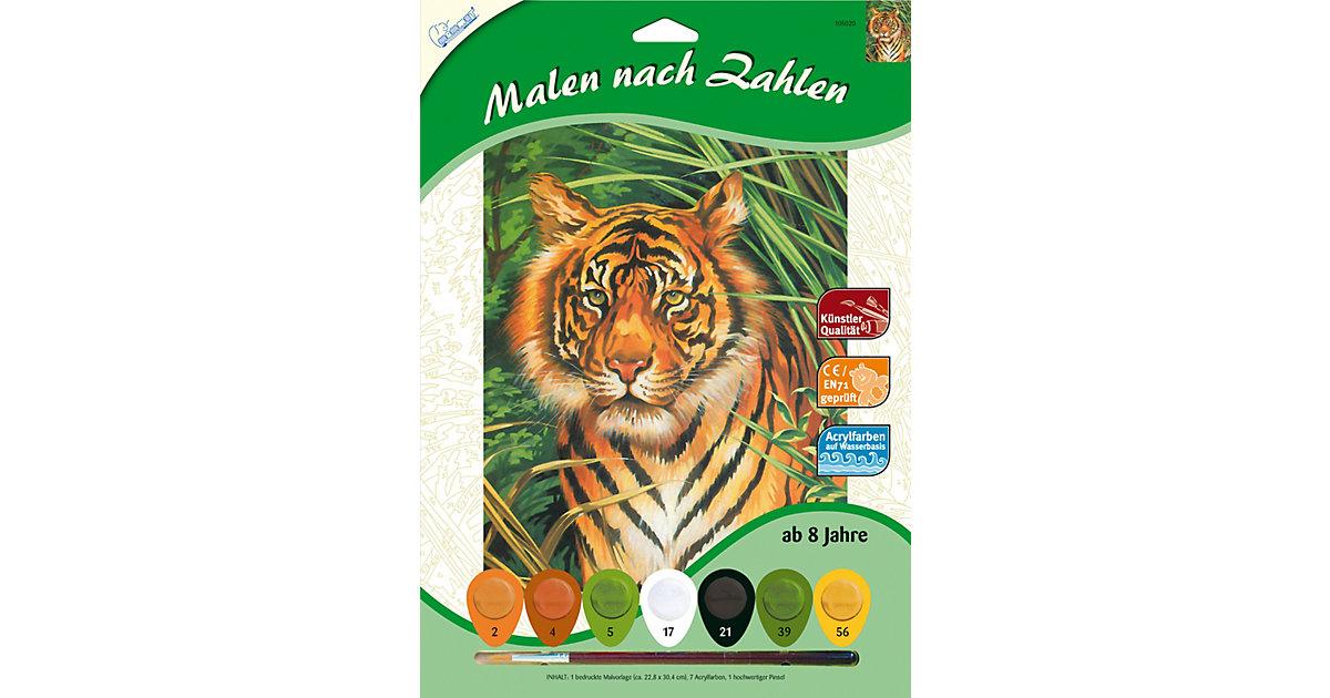 Malen nach Zahlen - Tiger