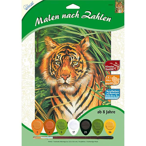 Malen Nach Zahlen Tiger Mammut Spiel Und Geschenk