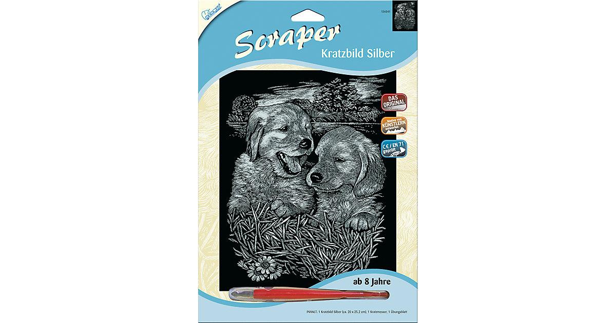Scraper Silber groß - Hundebabys