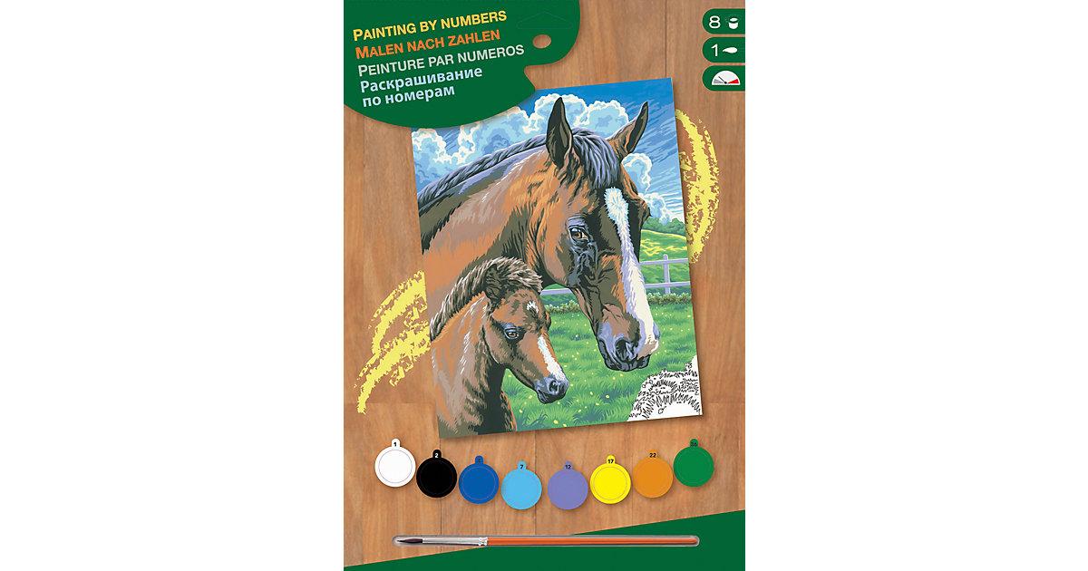 Junior Painting by Numbers - Pferd mit Fohlen