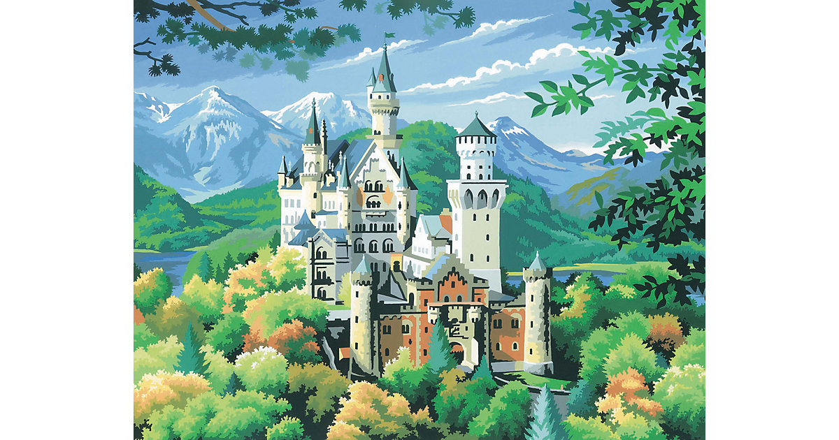 Senior Painting by Numbers - Schloss Neuschwans...