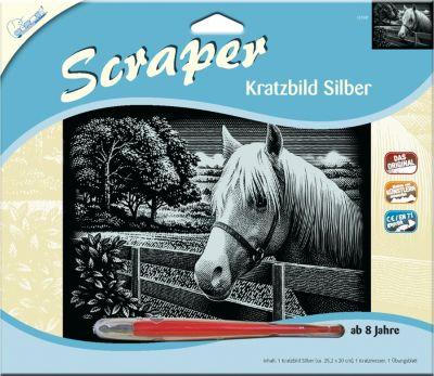 Pferd Scraper Silber groß