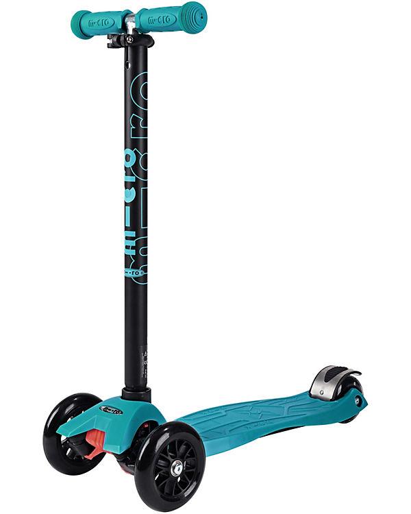 Twist-Scooter maxi micro mit T-Lenker, aqua blau, micro