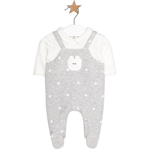 Baby Strampler mit eingenähtem Langarmshirt Gr. 56/62 | 01802600021046