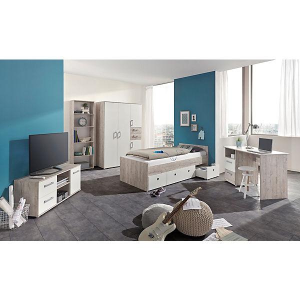 komplett jugendzimmer bente 5 tlg kleiderschrank 4 t rig. Black Bedroom Furniture Sets. Home Design Ideas