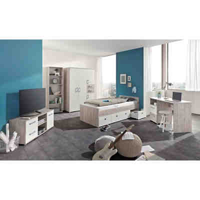 komplett jugendzimmer vicky 4 tlg einzelbett. Black Bedroom Furniture Sets. Home Design Ideas