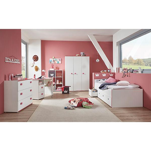 Komplett Jugendzimmer Mia 5 Tlg Kleiderschrank 3 Turig Kommode