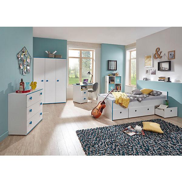 Komplett Jugendzimmer Moritz 5 Tlg Kleiderschrank 3 Turig Kommode