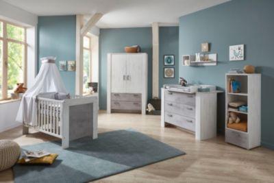 Schardt Nordic Driftwood Kinderzimmer 4-teilig mit 3-trg Schrank NEU