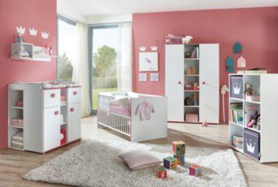 Komplett Kinderzimmer Mia, 3 Tlg. (Kinderbett Exkl. Umbauseiten,  Wickelkommode Und