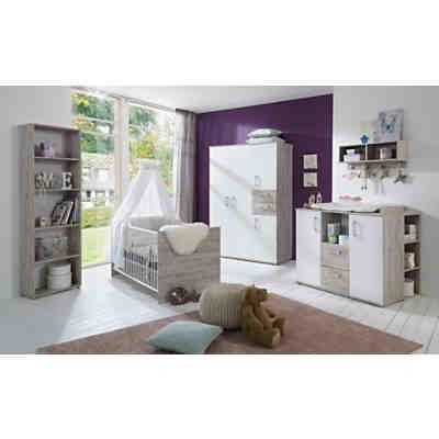 Komplett Kinderzimmer Bente 3 Tlg Kinderbett Exkl Umbauseiten Wickelkommode Und