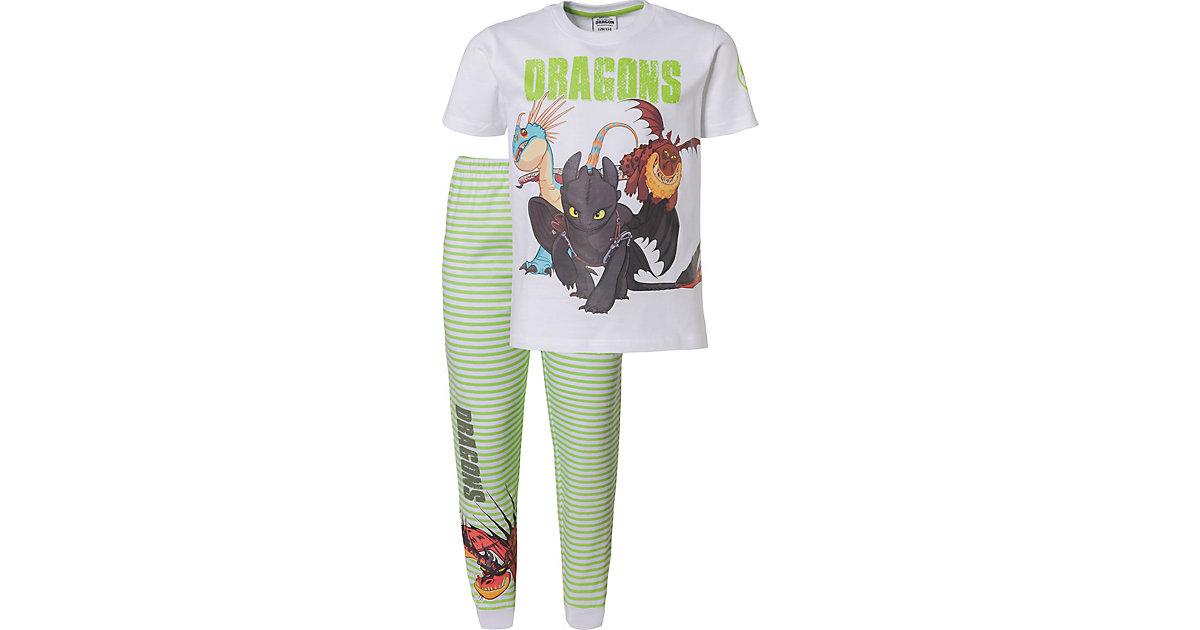 Dragons · Dragons Schlafanzug Gr. 128/134 Jungen Kinder