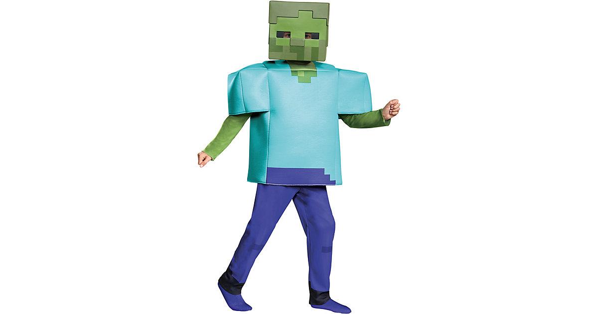 Kostüm Minecraft Zombie Deluxe Gr. 104/122 Jungen Kinder