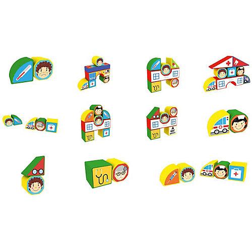"""Пластиковые кубики Magneticus """"Больница"""", 12 кубиков от Magneticus"""