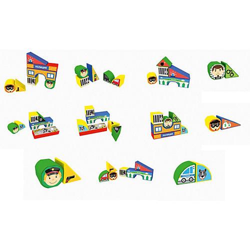 """Пластиковые кубики Magneticus """"Полиция"""", 12 кубиков от Magneticus"""