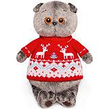 Мягкая игрушка Budi Basa Кот Басик в свитере с оленями, 19 см