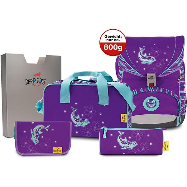 ef886226a7b9b 8405077 Schulrucksackset ErgoFlex Silver Dolphin