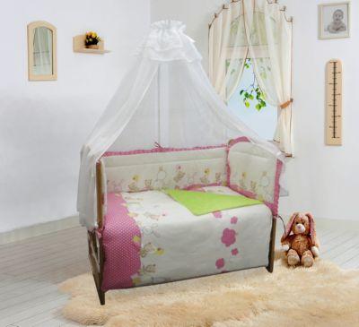 """Бортик в кроватку Soni Kids """"В уютных облачках"""" розовый — Бортик в кроватку Soni Kids """"В уютных облачках"""""""