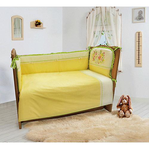 """Комплект постельного белья из 6 предметов Soni Kids """"Мой садик"""" салатовый от Soni Kids"""
