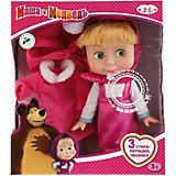 """Кукла Карапуз """"Маша и Медведь"""" Маша с зимней одеждой, озвученная, 25 см"""